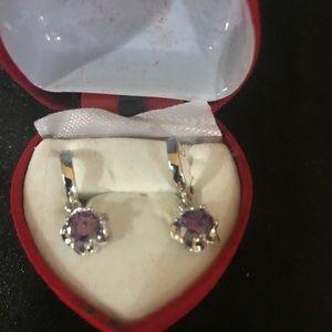 Beautiful amethyst Sterling silver earrings